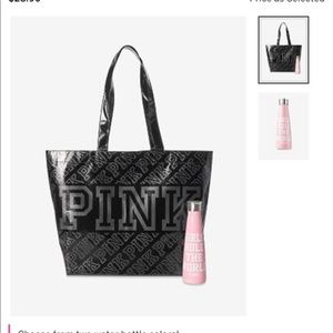 Victoria Secret PINK tote and water bottle